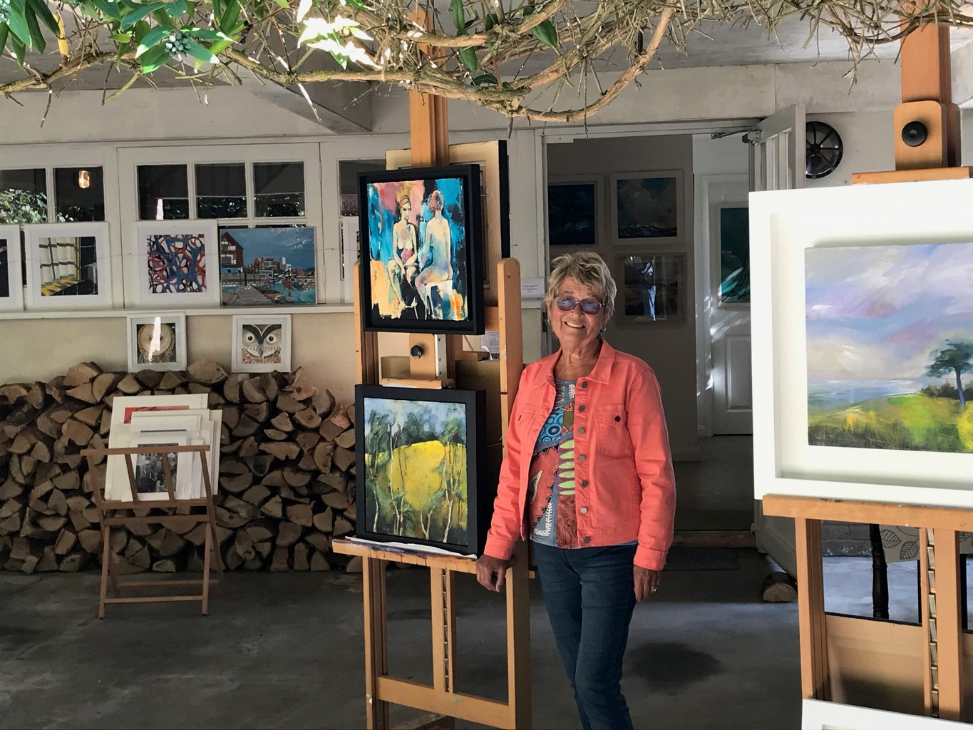 Marion outside her studio